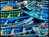 Blue boats por freddie2310