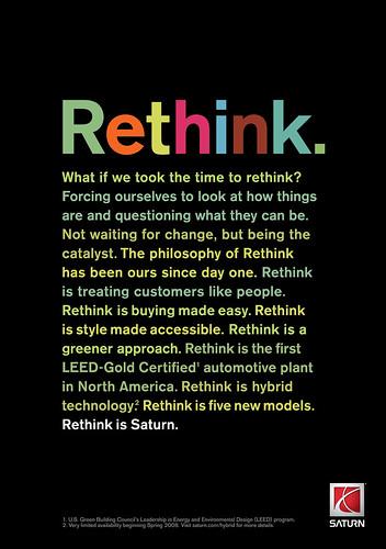 Saturn Rethink ad