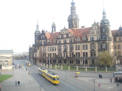 Tramvies pel centre de Dresden