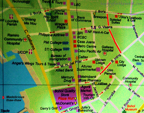 Tagbilaran City Map