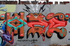 oze108 (Luna Park) Tags: nyc ny newyork wall brooklyn graffiti mural lunapark redhook grunts kyt oze108