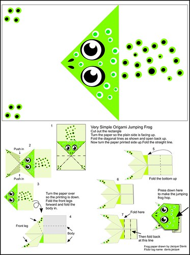 Origami Jumping Frog Instructions And Paper
