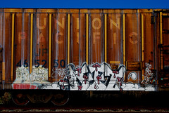 Left on Union Pacific (All Seeing) Tags: up graffiti unionpacific left uprr ase twb mrleft