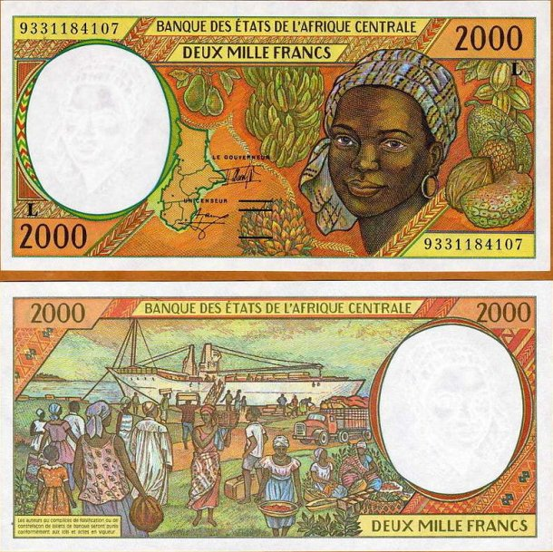 Gabon P403L 2000 Francs