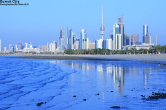 Reflect My City (Nouf Alkhamees) Tags: city sea reflection kuwait alk nono nof  alkuwait    nouf      alkhamees flickrlovers shweekh noufalkhamees