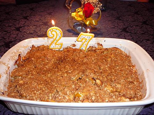 Apple Crisp my mom made for my birthday