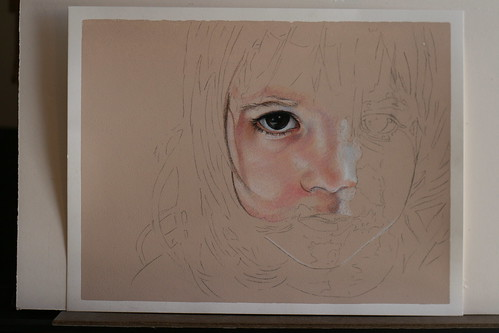 As yet untitled colored pencil drawing of my daughter.