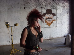 Heavy Metal BBQ behind the scenes (Tek-nique) Tags: city metal tampa healthy 1st jan eating models bbq entertainment ybor heavy 2009 xzanthia teknique