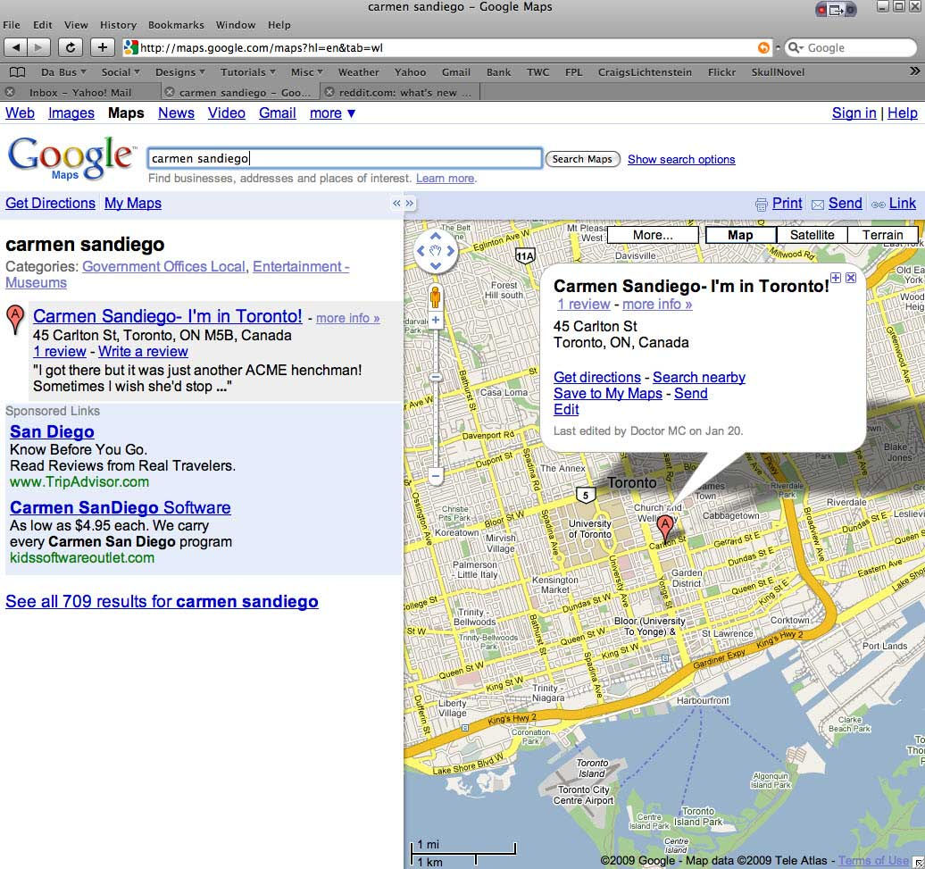Google Makes Everything Easier | Carmen Sandiego, Canada and Google Maps... [PIC]