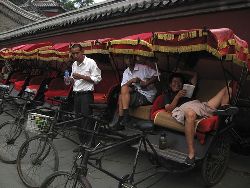 Rickshaw drivers at rest