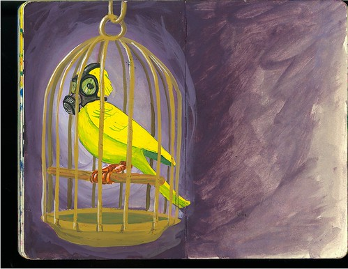 Canary in a Coal mine... wear a mask! | Flickr - Photo Sharing!