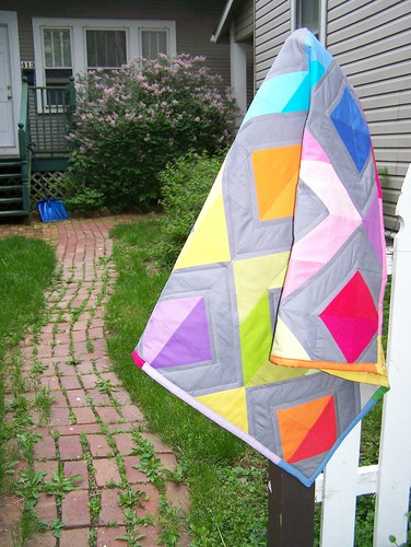 Diamonds quilt, draped