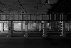 (Kevin Dickert) Tags: road street city railroad bridge urban blackandwhite chicago grit graffiti cityscape decay rail pilsen 16thstreet underneath tiltshift urbanity canon5dmarkii iamhydrogen kevindickert canontse17mmf4l