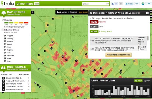 Crime Map Beta - Trulia - 2