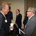 Ed White of Itron (l) chats with Cisco's Ed Carney.