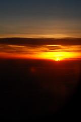 Sunrise Above The Clouds (syish adam) Tags: morning orange sun black yellow clouds sunrise airplane nikon picture malaysia penang kedah abovetheclouds perlis d80