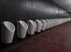 Men (So gesehen.) Tags: red black architecture concrete schweiz switzerland football stadium perspective toilet wc zrich stadion grdigital urinals pissoir 1000views letzigrund 50faves euro2008