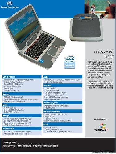 netbook specsheet