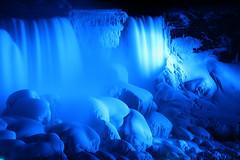 Falls in blue (Gary Simmons) Tags: winter ontario march break niagara falls 2008 platinumphoto niagarafallswaterpark2007