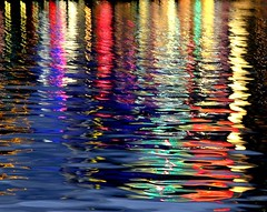Palette (An Gobn Saor) Tags: blue red orange water yellow night reflections painting paint colours sydney australia saturation darlingharbour oils palette diamondclassphotographer platinumheartaward angobnsaor gobnsaor