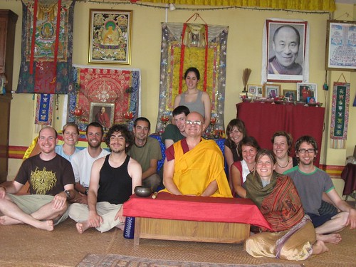 Class photo - weekend Buddhism course in Pokhara, Nepal