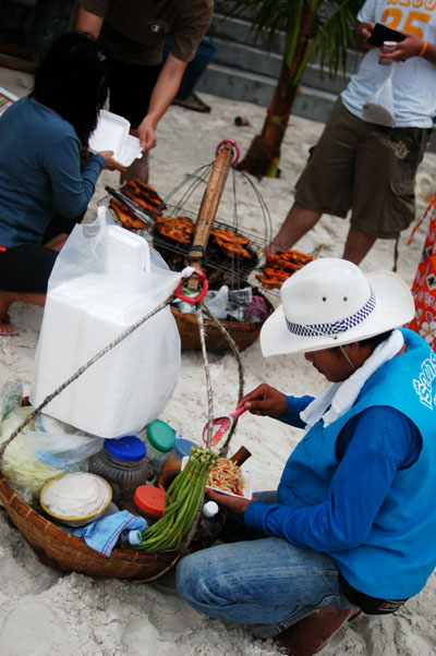 A som tam vendor on Ko Samet