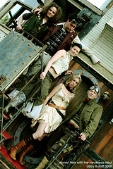 Abney Park on the Neverwas Haul (exoskeletoncabaret) Tags: steampunk abneypark makerfaire neverwashaul