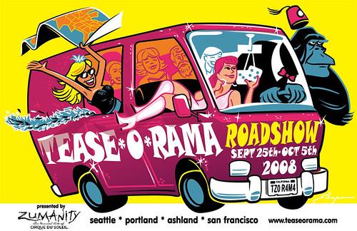 Tease*O*Rama Roadshow ad
