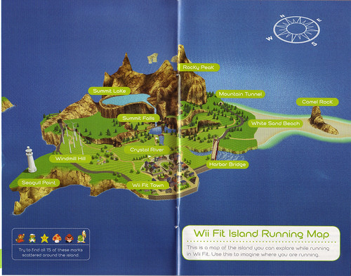 Map of Wii Fit Island by Laura Moncur from Flickr