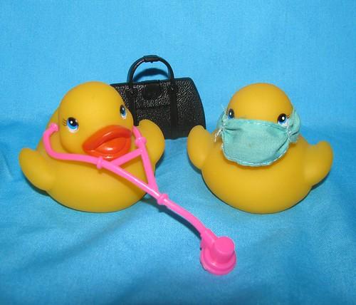 Quack doctors (pair-o-docs)  (or pair-a-ducks)