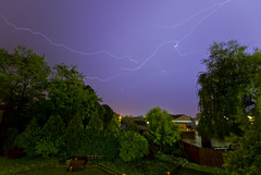Lightning (O Caritas) Tags: sky storm night photoshop michigan eastlansing lightning lightningbolts frommybalcony nikond200 dsc0714 ©2008bypatricktpowerallrightsreserved sigma1020mm4056ex