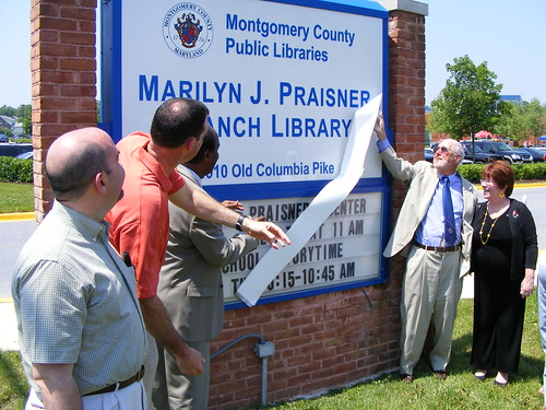 just up the pike: former councilmember praisner memorialized