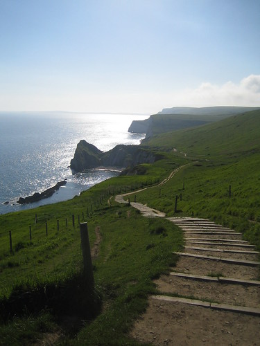 Coastal path to Durdle Door, Dorset