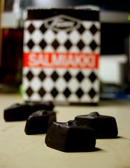 Salmiakki (lofaesofa) Tags: uk england food black english finland britain salty sweets british packet liquorice berkshire scandinavian salmiakki fazer silwoodpark finnishfood blackdiamonds ammoni