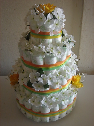 Diaper Cake In our previous post in our three part series about how to make
