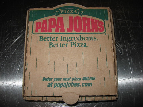 Flickriver: yummyinthetummyblog's photos tagged with papajohns Papa Johns Pizza Box Opened