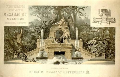 Projekt spomenika knezu M. Mihailu Obrenovicu 3. Mikesin, Mihailo Osipovic, 1860s