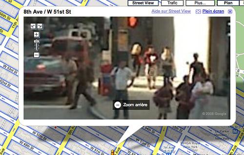 Cara borrosa en StreetView