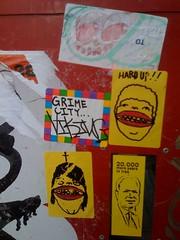 (theres no way home) Tags: street city wickerpark chicago art up john sticker cross head iraq hard more years grime viking goons mccain yob 20000 milwaukeeave