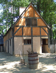 Jamestown Settlement: English Homes