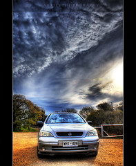 The Holden Astra - HDR (:: Artie | Photography ::) Tags: auto sky car clouds photoshop canon automobile cs2 tripod kitlens australia lindsay adelaide 1855mm southaustralia efs dri hdr astra holden opel hatchback vauxhall artie 3xp photomatix supershot tonemapping tonemap 400d rebelxti