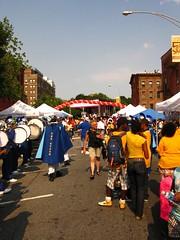 Cake Man Celebration Ft. Green Brooklyn - 7 (b'klynborn) Tags: red man green cake brooklyn drum fort battle parade velet