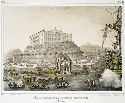 014-Desembarco de la princesa Leopoldine en Rio de Janeiro
