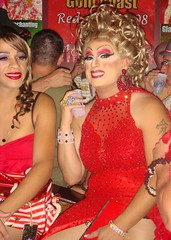 Red Dress Party 2008 (danimaniacs) Tags: red bar drag makeup wig westhollywood goldcoast reddressparty