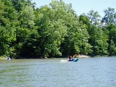 Kayaking on the Whitewater River, Indiana, August 2008 (lilysecret42) Tags: nature river boats outdoors kayak indiana kayaking kayaks whitewaterriver boatingkayak