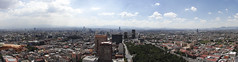 The skyline of Mexico city