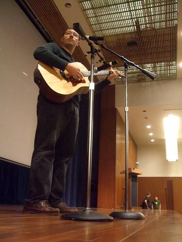 Andy Skelton playing guitar