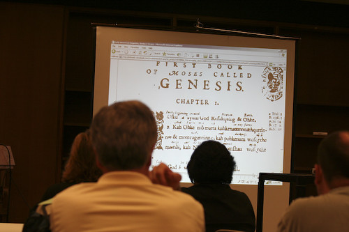 The digital version of the colonial Book of Psalms