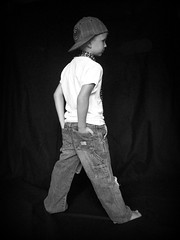 Profile (Casey Keith) Tags: boy portrait hat blackwhite child tie naturallight