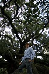 posing at treaty oak